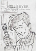 Doctor Who Sketch Cards WIP 11 by WombatOne