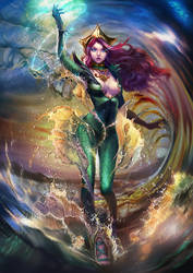 Mera in the sea by elyoncat