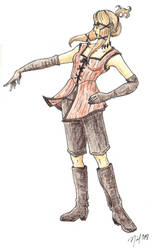 Steampunk Quistis outfit by Enkida