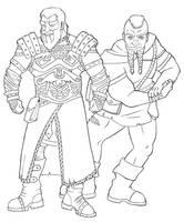 Commission: Dwarves by Enkida