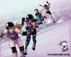 Roller Derby by Enkida