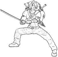 Finished warrior elf comm. by Enkida