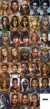 BG2 BioWare NPCs, Portrait Pack v2 by Enkida