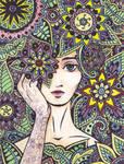 Flower Over Eye Final by Enkida