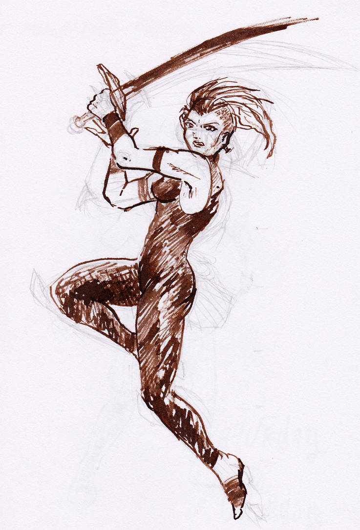 warrior sketch by Enkida