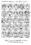25 expressions Yuffie Kisaragi by Enkida