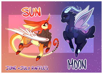 ( CLOSED ) June  and July Raffles -  Sun and Moon by BluePandaaah