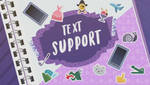 MLP EQG  Text Support part Name by Wakko2010