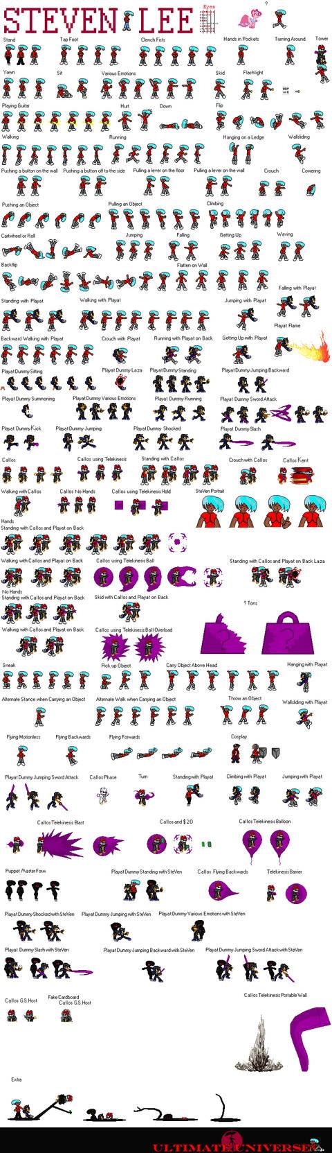 SteVen Attack Sprite Sheet 2013 by MarratoKensuto