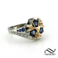 New Custom Zora Sapphire Ring by mooredesign13