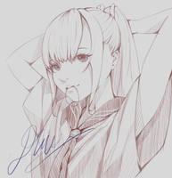 Girl's portrait sketch by BacDau
