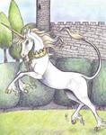 Unicorn 2- Heraldic by who-stole-MY-name