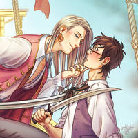 170709 - Viktuuri - Pirate!AU by unhlyghst