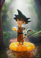 Goku Fan Art by ArtVStudio