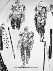 new Villain for Titanium Comics by marcoturini