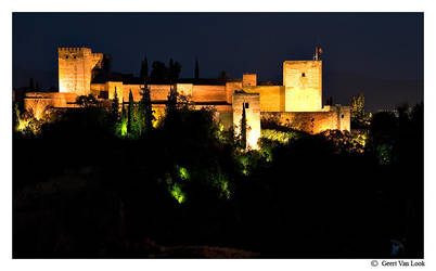 Alhambra night by Geert1845