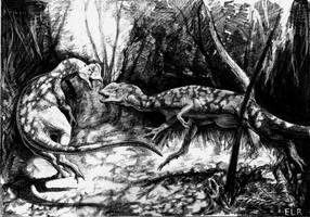 Dilophosaurus by Rolandi