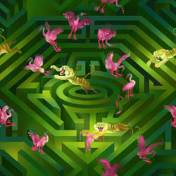 Borges pattern (time maze) by Rolandi