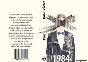 1984 Contemporary Book Cover by crazyblackwearer