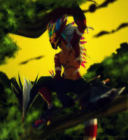 .:Art-Trade:. Fierce Predator by SEGAmastergirl