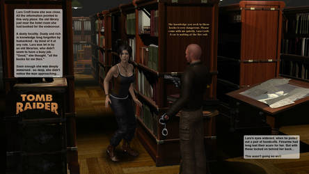 Lara Croft in the dusty library by honkus2