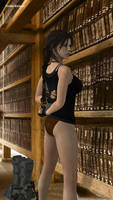 Lara Croft's Library Meeting by honkus2