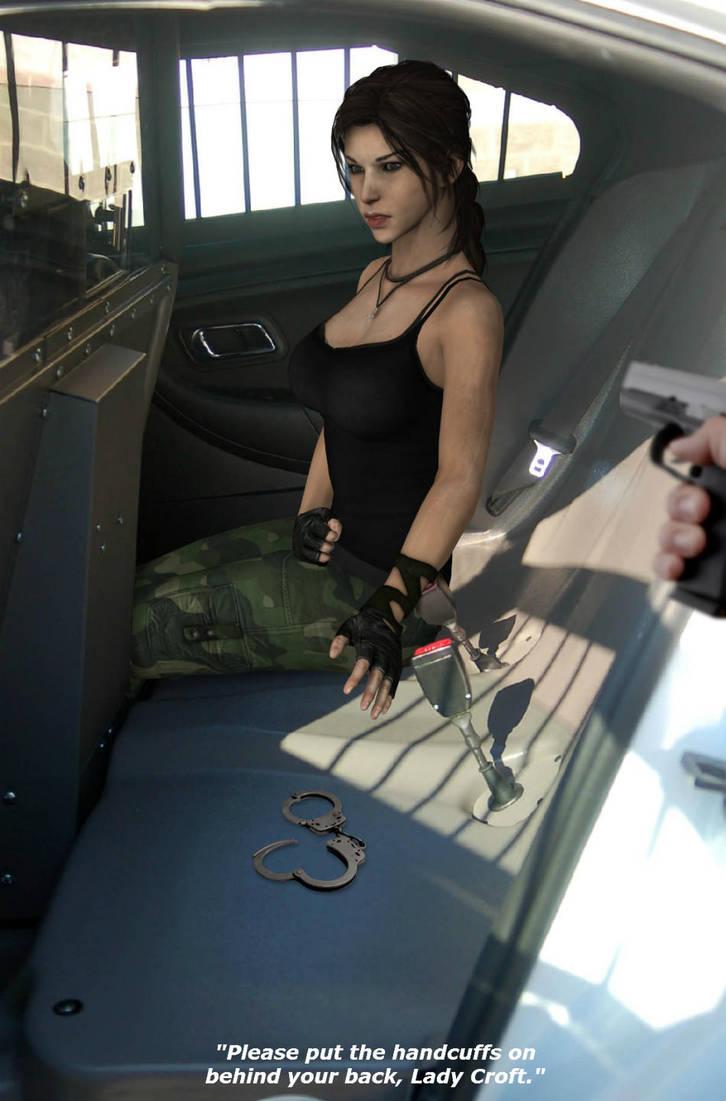 Lara Croft officially hogtied by honkus2 on DeviantArt