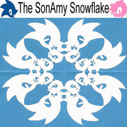 The SonAmy (Paper) Snowflake by JBJB1029