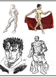 Quick Sketches by ccs1989