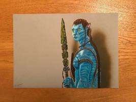 Avatar - Jake Sully - Mixed Media by Norton409