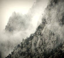 misty mountains cold by Moophlon