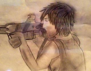 Daryl Dixon by midnightpb