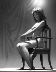 Woman in Chair by stahlber