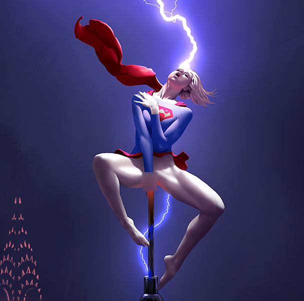 Naughty Supergirl by stahlber