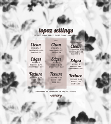 my new topaz clean atn - settings by savaxy