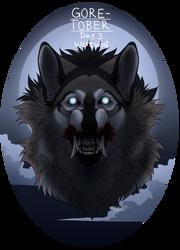 Goretober Day 3: Werewolf by TiddyLord