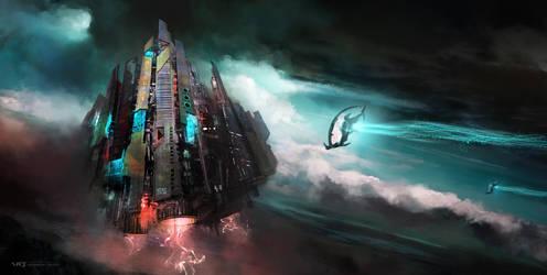 Sky Fortress by vladgheneli