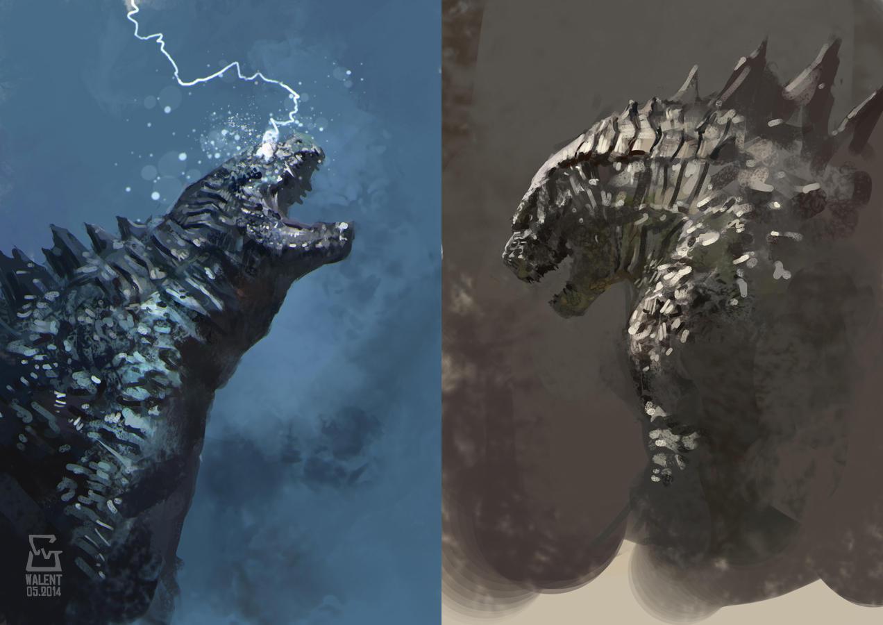 Godzilla studies by vladgheneli