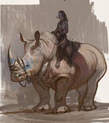 Rhino rider by vladgheneli