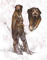 Anthro Sun Bear sketch by vladgheneli