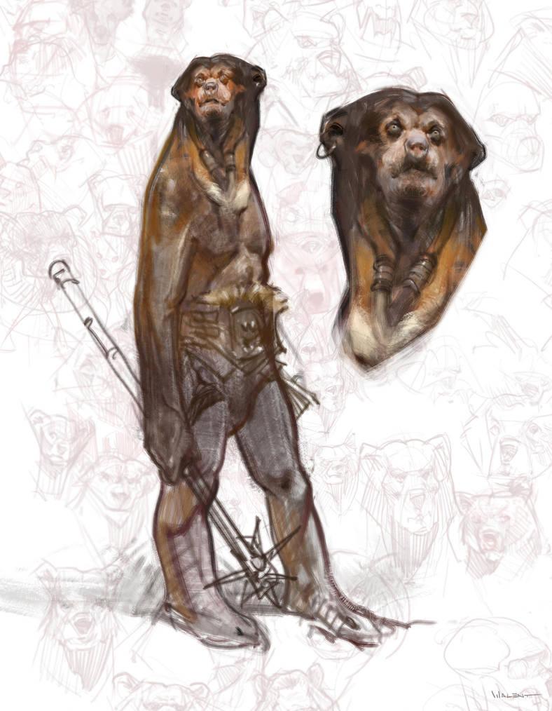 Anthro Sun Bear Sketch By Vladgheneli On Deviantart