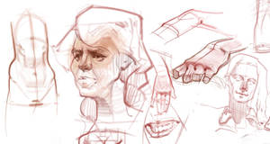 Various sketches Oct19th by vladgheneli