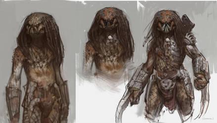 Predator sketches by vladgheneli