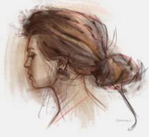 Portrait practice sketch by vladgheneli
