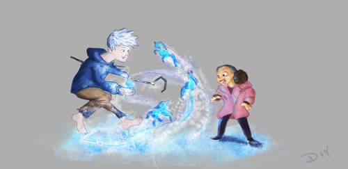 Jack Frost and Girl by MysteryMint