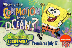 SpongeBob Promo Postcard 1999 by shermcohen