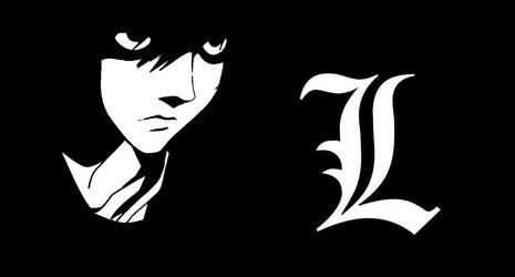 L Lawliet - Wallpaper - Edit - Death Note by Saraeia