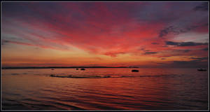 Baltic Sea sunset colours by jchanders