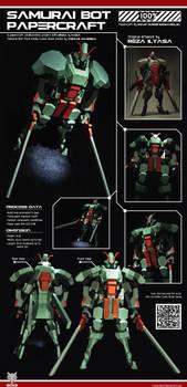 Samurai Bot Papercraft 100% by Loone-Wolf