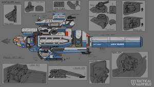 USV AURA - Wisp Class Frigate by Loone-Wolf